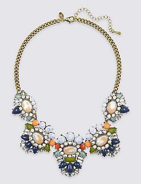 Assorted Bead & Diamanté Collar Necklace, , catlanding