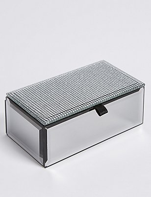Rectangular Glitter Small Jewellery Box, , catlanding