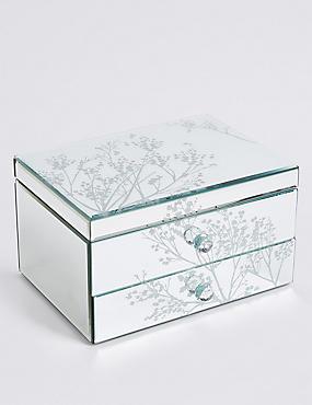 Boîte à bijoux 2tiroirs à motif fleurs de cerisier, , catlanding