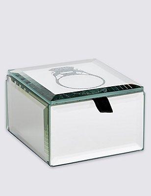 Deco Two Tone Ring Design Jewellery Box, , catlanding