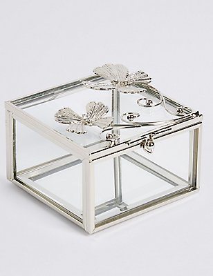 Flutter Metal Diamanté Butterfly Jewellery Box, , catlanding
