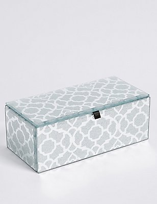 Rectangular Glitter Effect Medium Jewellery Box, , catlanding