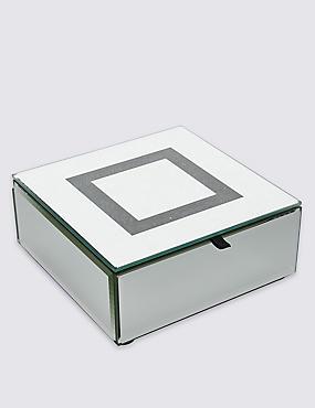 Boîte à bijoux carrée ornée de strass, , catlanding