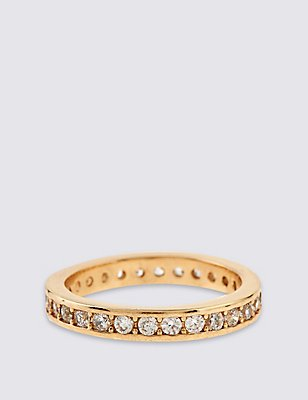 Gold Plated Shimmer Band Ring, GOLD MIX, catlanding