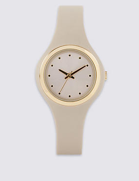 Round Face Mini Sports Watch, BEIGE MIX, catlanding