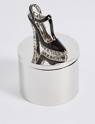Diamanté Encrusted Shoe Trinket Box, , catlanding