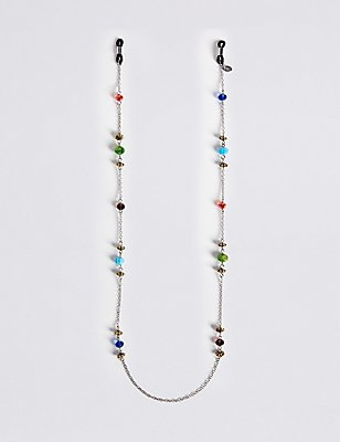 Multi-Bead Glasses Chain , , catlanding