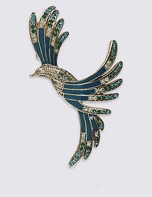 Vintage Mocking Bird Brooch, , catlanding