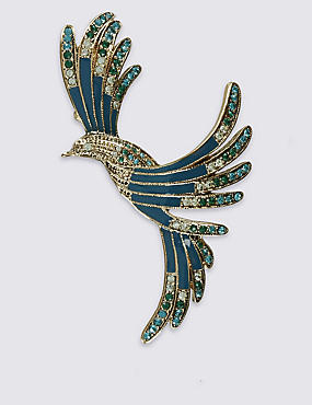 Vintage Mocking Bird Brooch, , catlanding