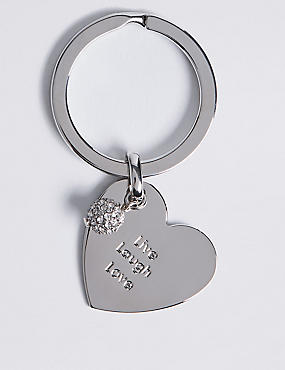 Live Laugh Love Keyring, , catlanding