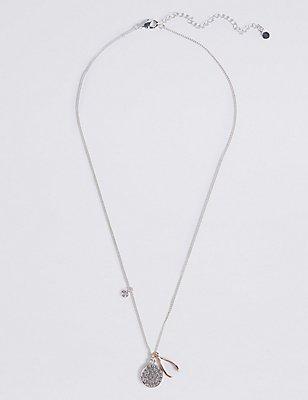 Charm Wishbone Necklace, , catlanding