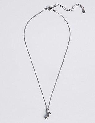 Sparkle Shoe Necklace, , catlanding