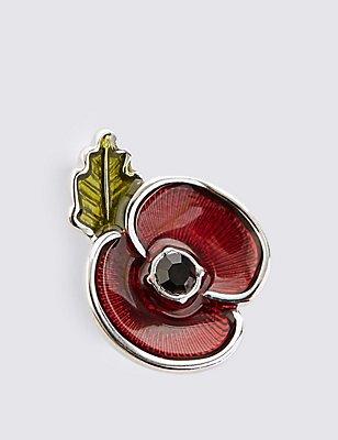The Poppy Collection® Enamel Collar Pin, , catlanding