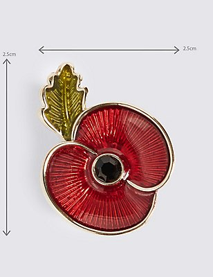 The Poppy Collection® Enamel Brooch, , catlanding