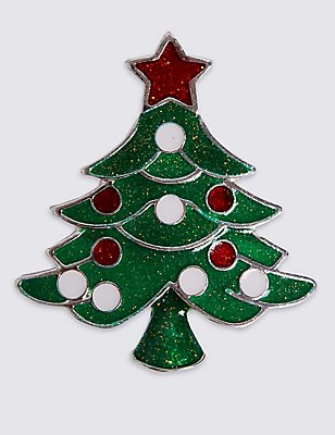 Christmas Tree Brooch, , catlanding