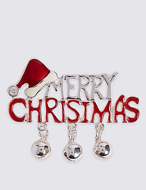 Merry Christmas Brooch, , catlanding