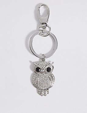 Pave Owl Keyring, , catlanding