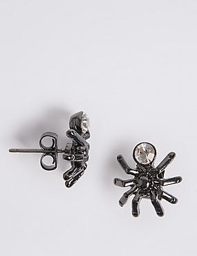 Spider Stud Earrings, , catlanding