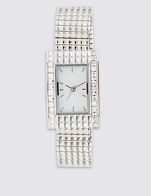 Square Face Bling Watch, , catlanding