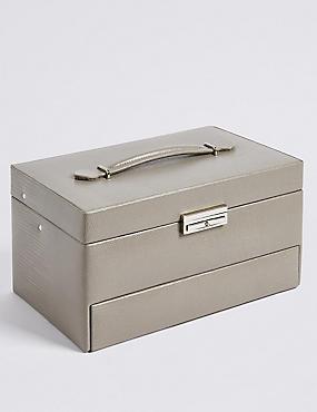 Large Rectangular Jewellery Box, MINK MIX, catlanding