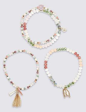 Ensemble bracelets à breloques, effet scintillant, , catlanding