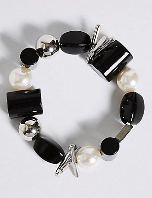 Pearl Mix Shape Bracelet, , catlanding
