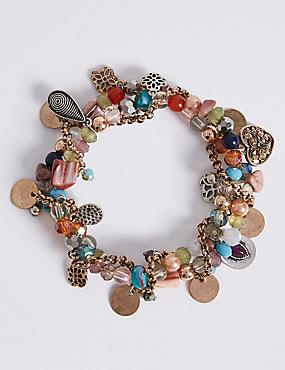 Charm Cluster Bracelet, , catlanding