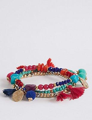 Armbanden met pompons , , catlanding