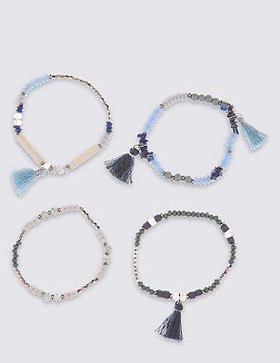 Craft Tassel Stretch Bracelets, , catlanding