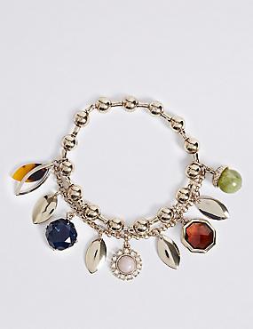 Acorn Charm Bracelet, , catlanding