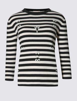 Хлопковый джемпер Ella в полоску от Marks & Spencer