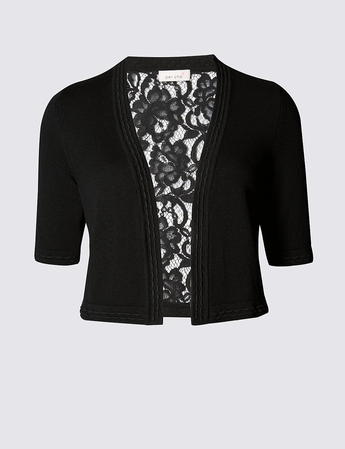 Floral Lace Back Cardigan | M&S