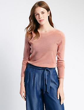 Weicher Pullover mit Rundhalsausschnitt, ZARTROSA ROSA, catlanding