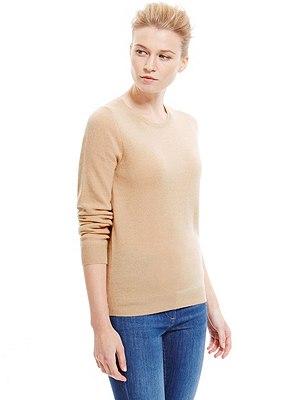 Pure Cashmere Jumper, BLONDE, catlanding