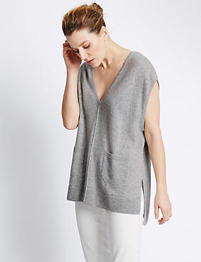 Pure Cashmere Tabard Jumper