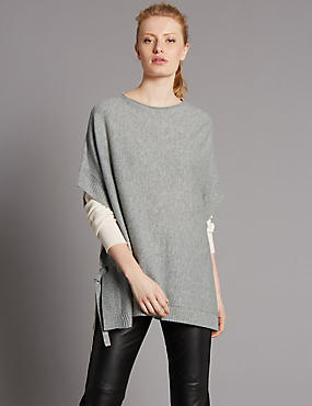 Pure Cashmere Round Neck Jumper, MEDIUM SLATE, catlanding