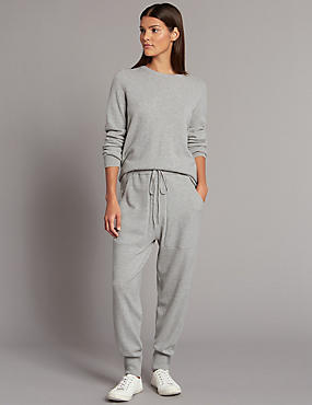 Pure Cashmere Joggers, GREY MARL, catlanding