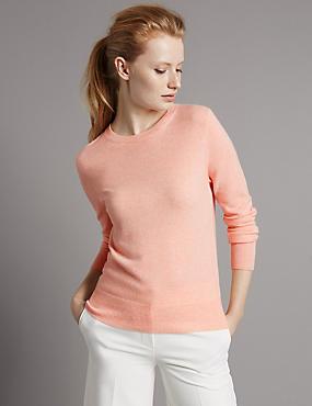 Pure Cashmere Jumper, BLUSH, catlanding