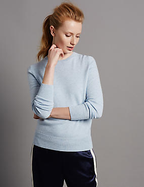 Pure Cashmere Jumper, FRESH BLUE, catlanding