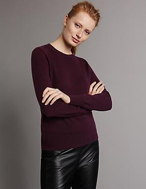 Pure Cashmere Jumper, BURGUNDY, catlanding