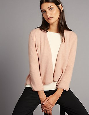 Pure Cashmere Waterfall Cardigan, COPPER ROSE, catlanding