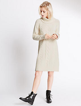 Polo Neck Tunic Jumpers, IVORY, catlanding