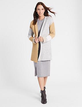 Gilet veste à motif color block, CAMEL ASSORTI, catlanding