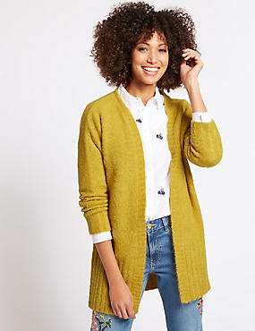 Textured Open Front Cardigan, WINTER LIME, catlanding