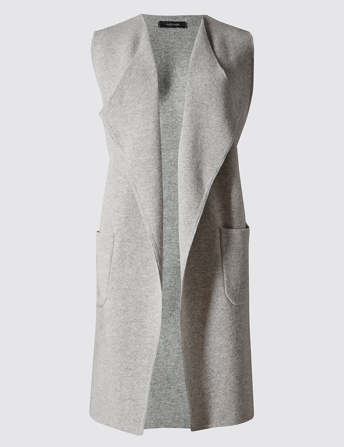 Open Front Sleeveless Cardigan with Cashmere | M&S