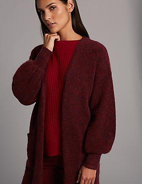 Gilet veste texturé sans boutonnage, BORDEAUX, catlanding