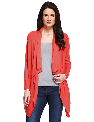 Open Front Waterfall Cardigan | M&S