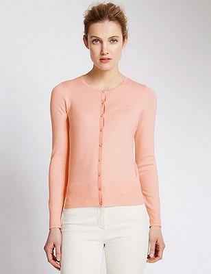 Button Through Cardigan, SOFT APRICOT, catlanding