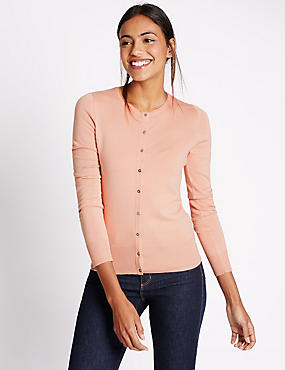 Button Through Cardigan, BLUSH, catlanding
