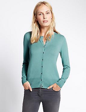 Button Through Cardigan, SAGE GREEN, catlanding